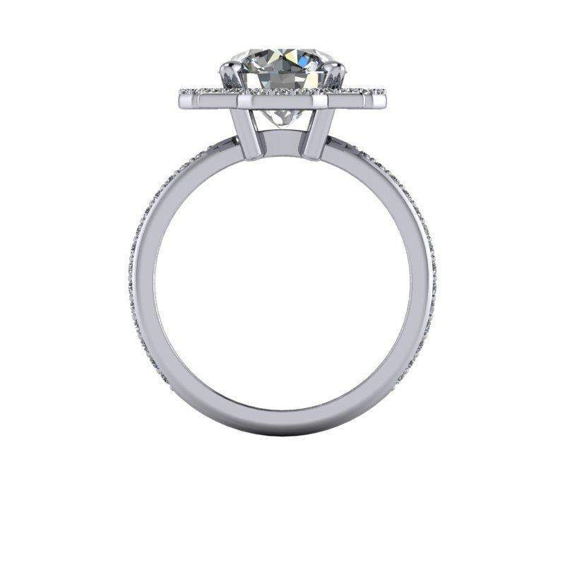 2.80 CTW Forever One Moissanite Unique Double Halo Engagement Ring-BVD