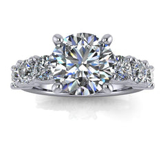 2.85 CTW Round Forever One Moissanite Anniversary/Engagement Ring-Bel Viaggio Designs, LLC