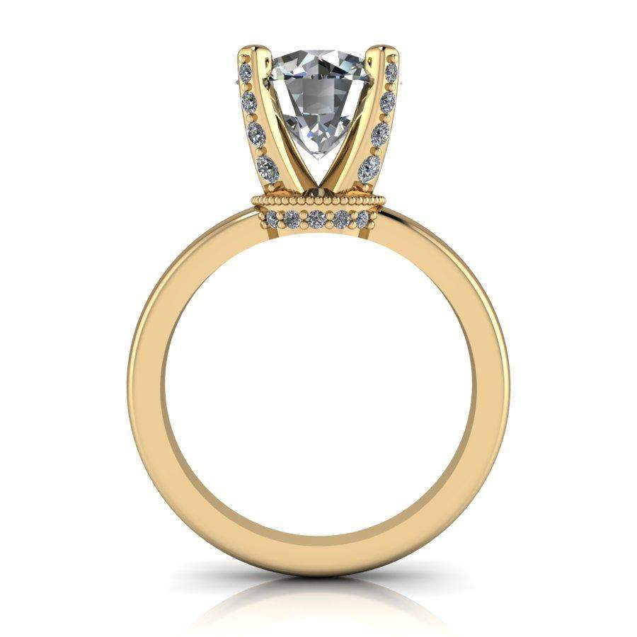 2.90 CTW Diamond Prong Solitaire Forever One Moissanite Engagement Ring-Bel Viaggio Designs, LLC