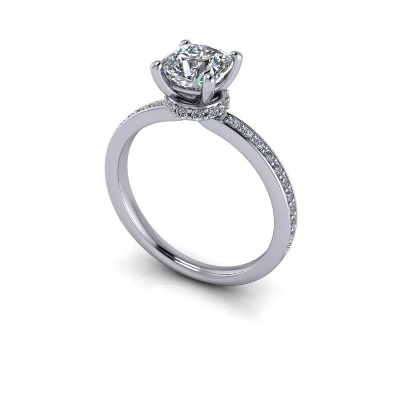 1.36 CTW Charles & Colvard Colorless Moissanite Engagement Ring-Bel Viaggio Designs
