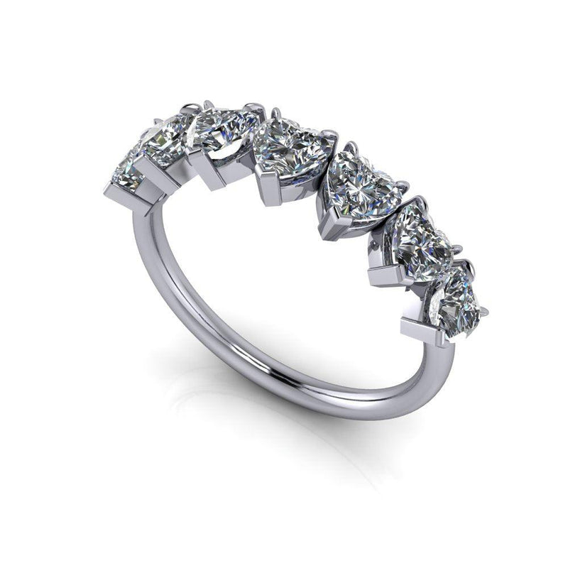 1.61 ctw Heart Moissanite Anniversary Ring-Bel Viaggio Designs
