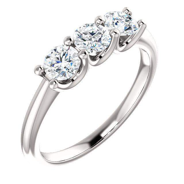 3-Stone Diamond Anniversary Ring 3/5 ctw-BVD