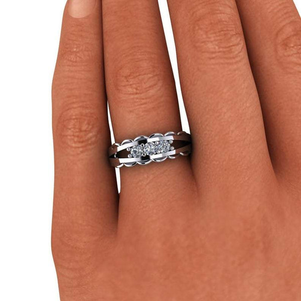 .30 ctw Forever One Moissanite Anniversary Band-Bel Viaggio Designs