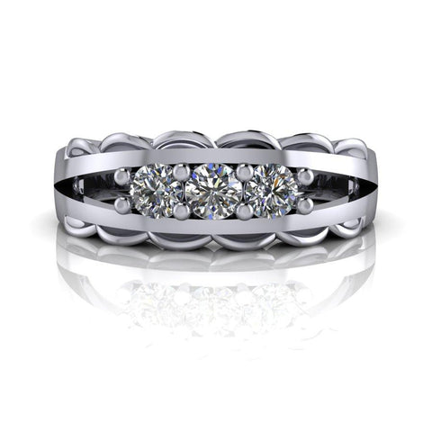.30 ctw Forever One Moissanite Anniversary Band-BVD
