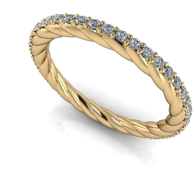 .30 CTW Forever One Moissanite Rope Twist Wedding Band-Bel Viaggio Designs, LLC