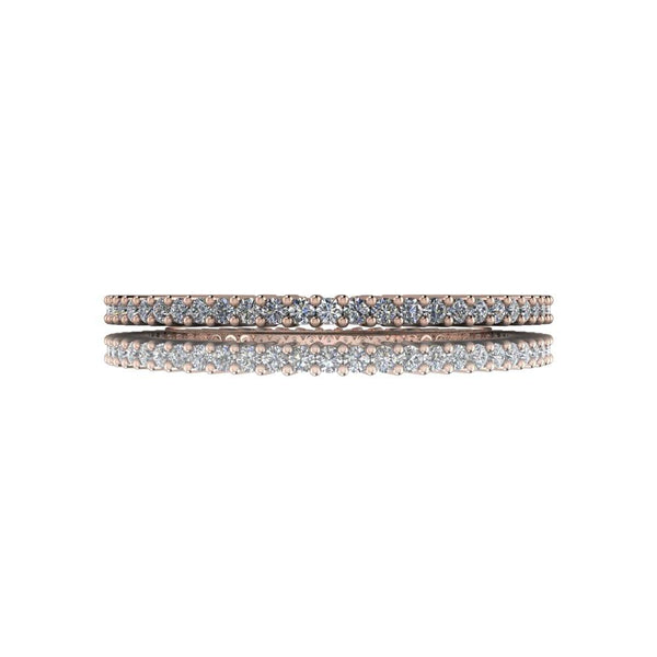 .30 CTW Thin Wedding Eternity Band Round Forever One Moissanite Ring-BVD