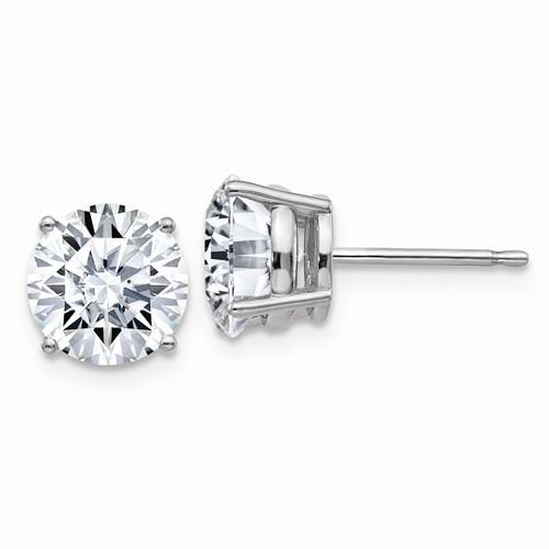 3.00 CTW Moissanite Stud Earrings, DEF Color-Bel Viaggio Designs