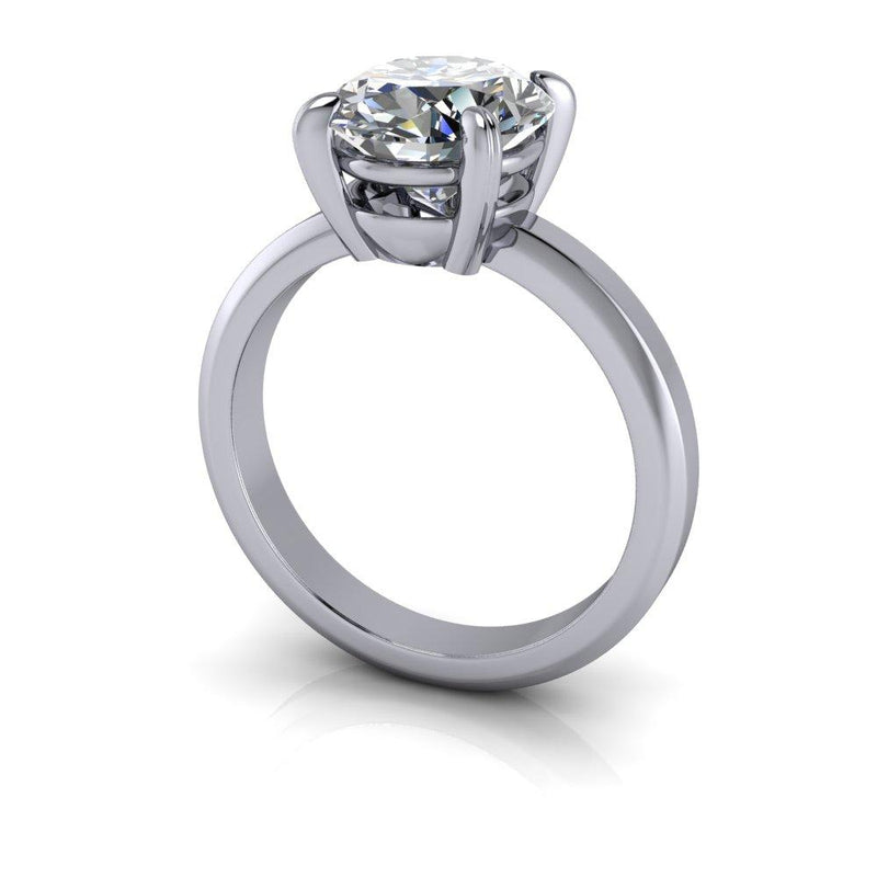 3.00 CTW Oval Forever One Colorless Moissanite Engagement Ring-Bel Viaggio Designs