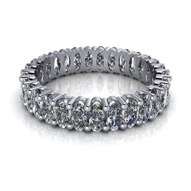 3.00 CTW Oval Forever One Moissanite Eternity Band-Bel Viaggio Designs