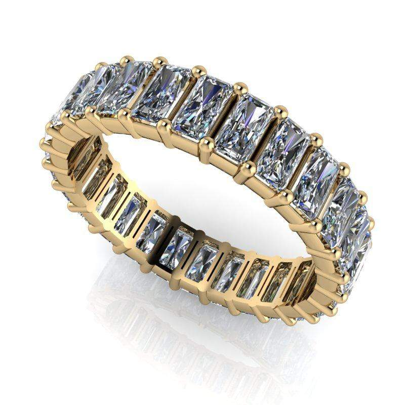 3.00 ctw Radiant Cut Colorless Moissanite Eternity Band-Bel Viaggio Designs, LLC