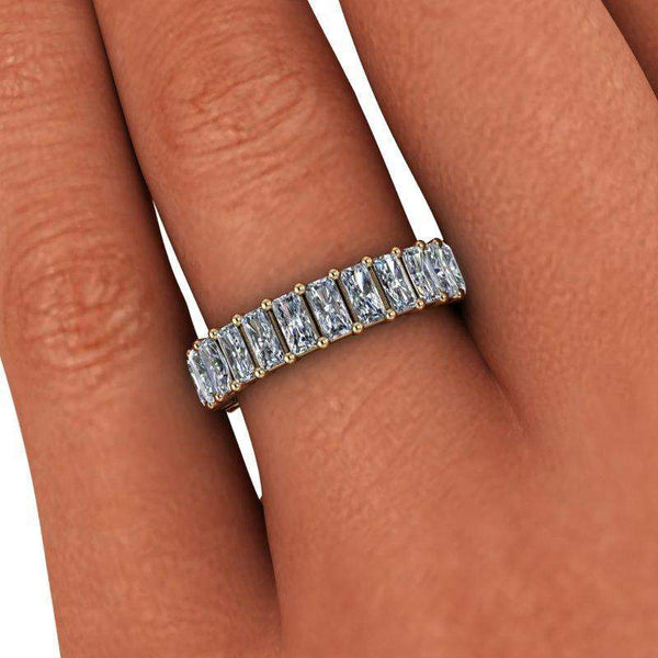 3.00 ctw Radiant Cut Colorless Moissanite Eternity Band-Bel Viaggio Designs