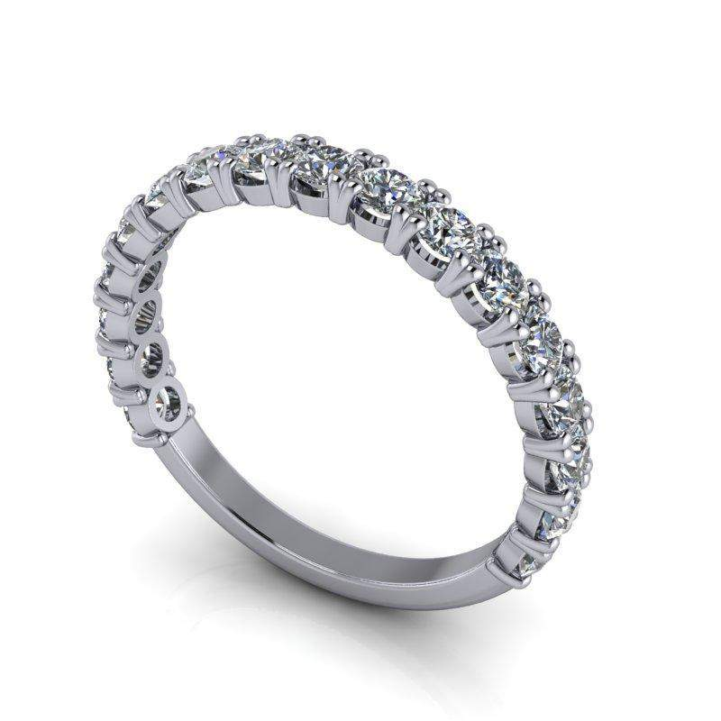 3.10 CTW Bridal Set Cushion Cut Engagement Ring and Stacking Wedding Band-Bel Viaggio Designs