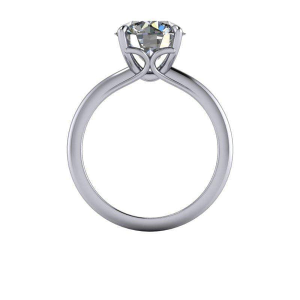 3.10 CTW Solitaire Charles & Colvard Moissanite Engagement Ring Round Stone-Bel Viaggio Designs
