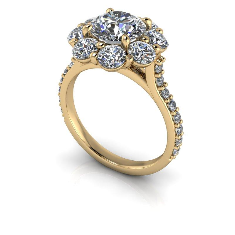 3.20 CTW Round Forever One Moissanite Engagement Ring-Bel Viaggio Designs, LLC