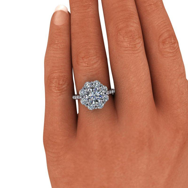3.20 CTW Round Forever One Moissanite Engagement Ring-Bel Viaggio Designs