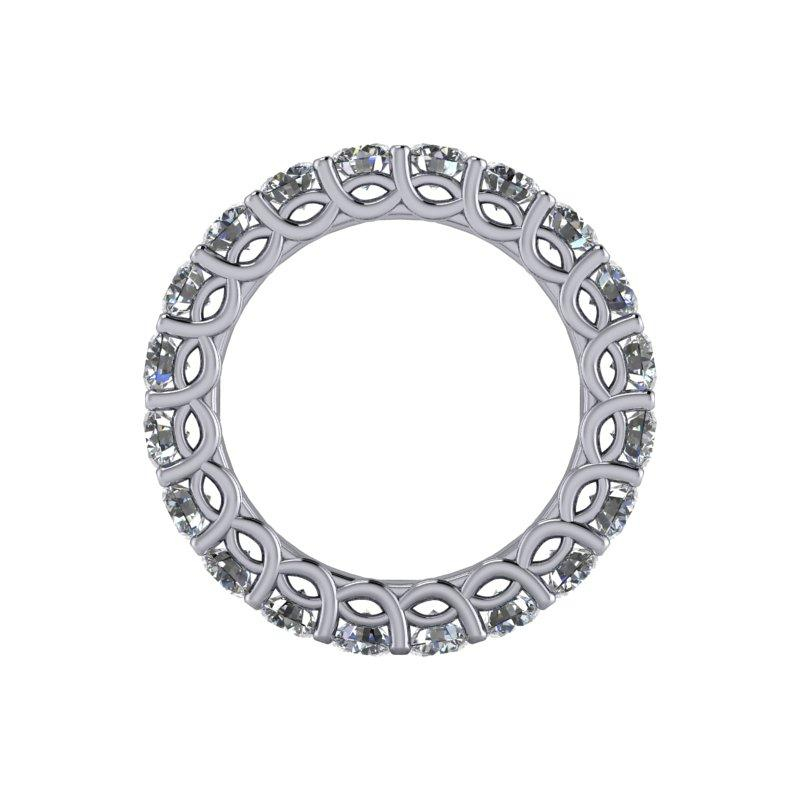 3.20 CTW Women's Eternity Band Forever One Moissanite Ring-BVD