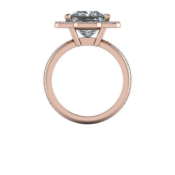 3.53 CTW Forever One Square Brilliant Halo Engagement Ring-BVD