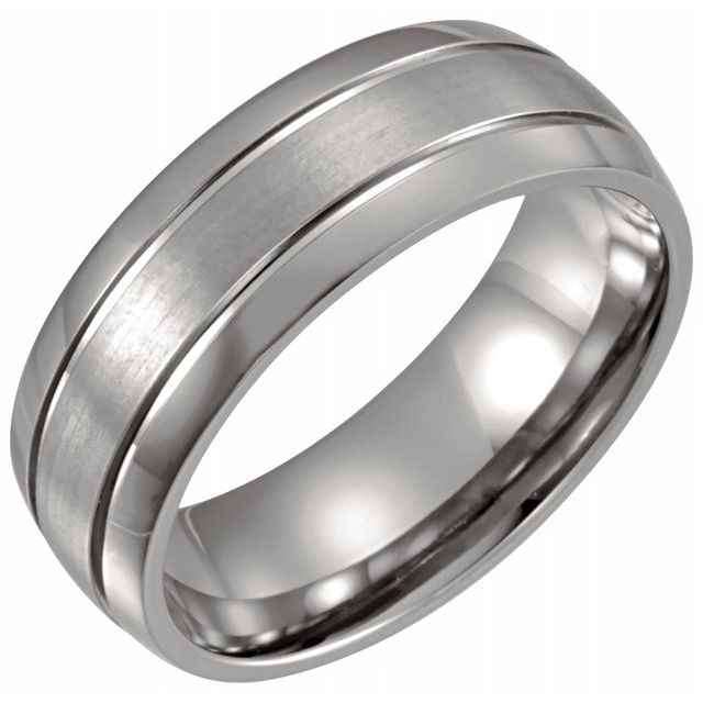 Titanium 8mm Band Satin Finish-Bel Viaggio Designs