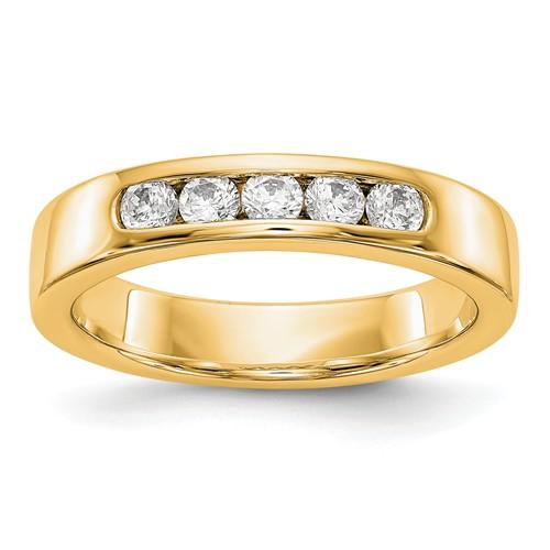 .35 ct Women's Diamond 14 kt Gold Wedding Band - Lab Grown Diamond Round Band-Bel Viaggio Designs