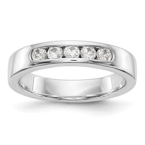 .35 ct Women's Diamond 14 kt Gold Wedding Band - Lab Grown Diamond Round Band-Bel Viaggio Designs, LLC