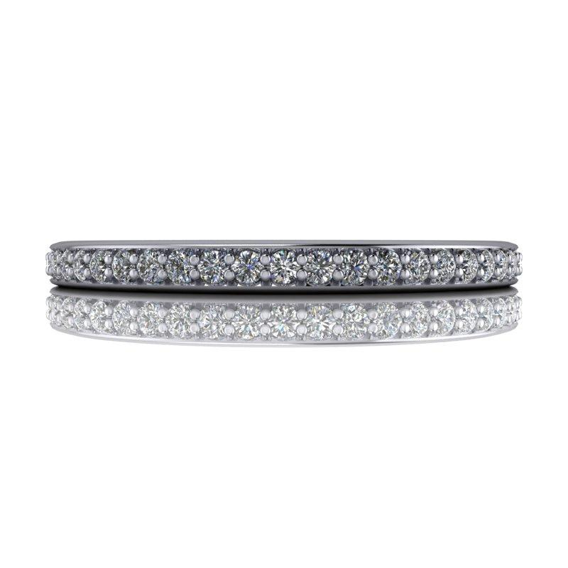 .35 CTW Eternity Band Round Forever One Moissanite-Forever One-Bel Viaggio Designs-Bel Viaggio®