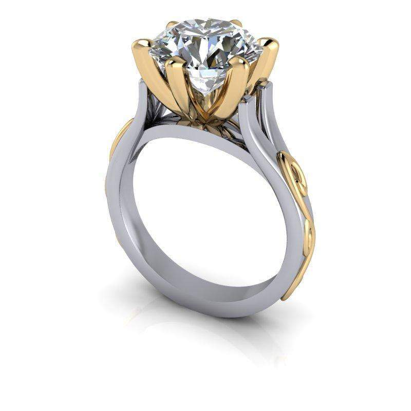 3.60 CTW Forever One Moissanite Solitaire Engagement Ring-Bel Viaggio Designs, LLC