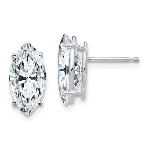 3.60 CTW Marquise Moissanite Stud Earrings, DEF Color-Bel Viaggio Designs