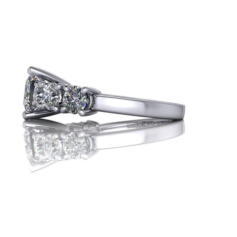 3.60 CTW Princess Cut Moissanite Anniversary Ring, Center Stone Options-Bel Viaggio Designs
