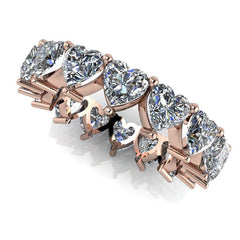 3.65 CTW Heart Shape Forever One Moissanite Eternity Band-Bel Viaggio Designs, LLC