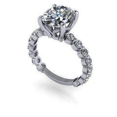 3.95 CTW Oval Cut Forever One Moissanite Engagement Ring-Bel Viaggio Designs, LLC