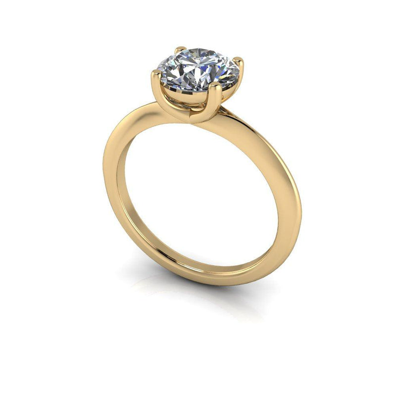 1.50 CTW Round Forever One Moissanite Solitaire Engagement Ring-Bel Viaggio Designs