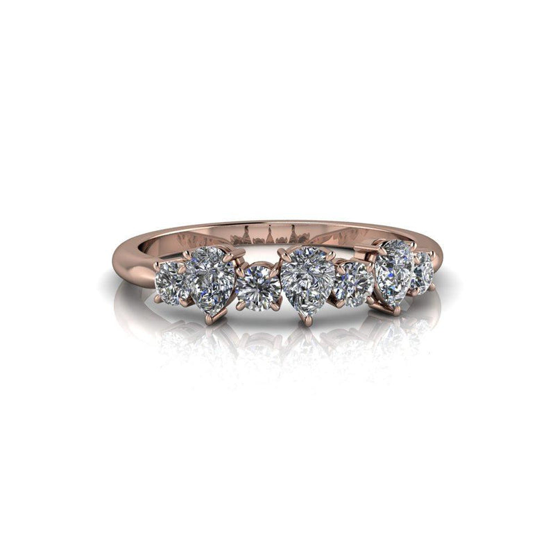 .77 ctw Colorless Moissanite Wedding Band/Stacking Ring-Bel Viaggio Designs
