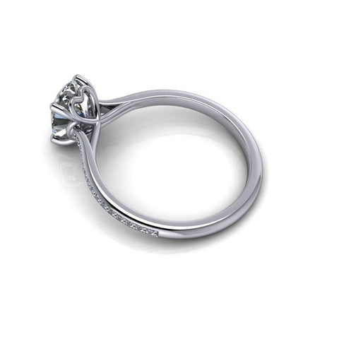 1.60 CTW Charles & Colvard Moissanite Oval Solitaire Engagement Ring-Bel Viaggio Designs