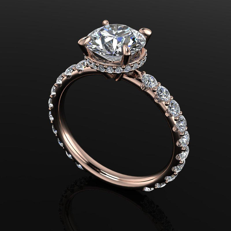 2.95 CT Charles & Colvard Moissanite Diamond Engagement Ring-Bel Viaggio Designs