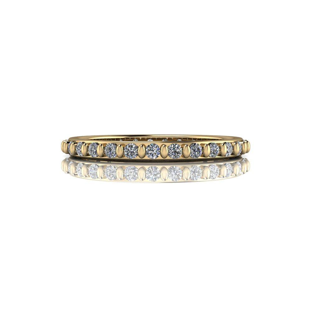 .40 CTW DEF Color Moissanite Wedding Band, Eternity Band, Insieme Bridal Stackables®-Bel Viaggio