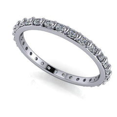 .40 CTW DEF Color Moissanite Wedding Band, Eternity Band, Insieme Bridal Stackables®-BVD