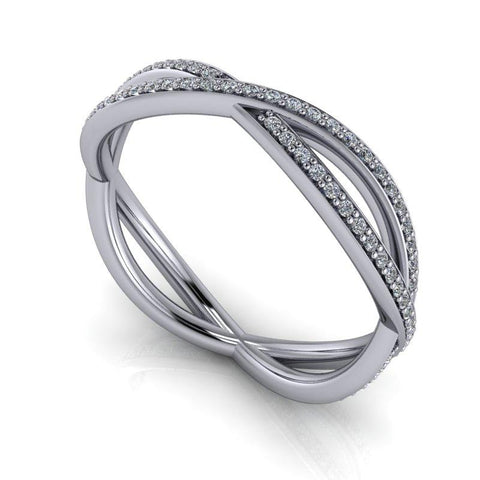 .40 CTW Lab Grown Diamond Wedding Band, Infinity Style, Insieme Bridal Stackables®-Bel Viaggio Designs