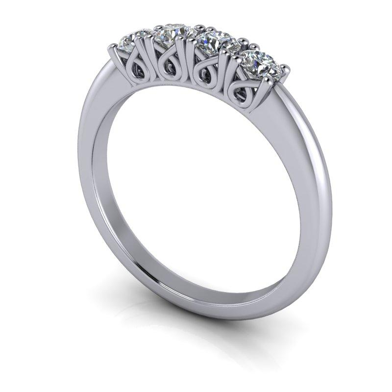 .40 CTW Wedding Band, Round Forever One Moissanite Ring-Bel Viaggio Designs, LLC