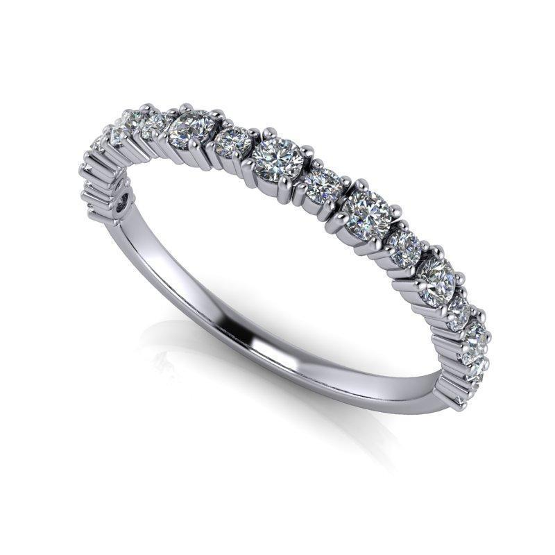 .40 CTW Women's Wedding Band Round Forever One Moissanite Ring-Bel Viaggio Designs, LLC