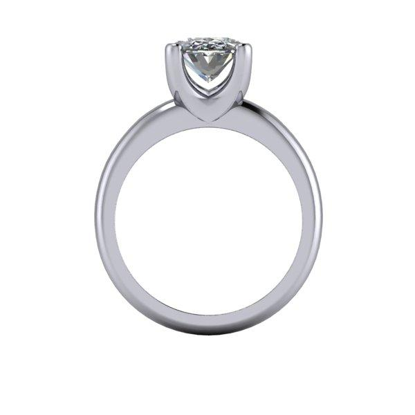 4.08 CTW Bridal Set Oval Forever One Moissanite Engagement Ring-Bel Viaggio Designs, LLC