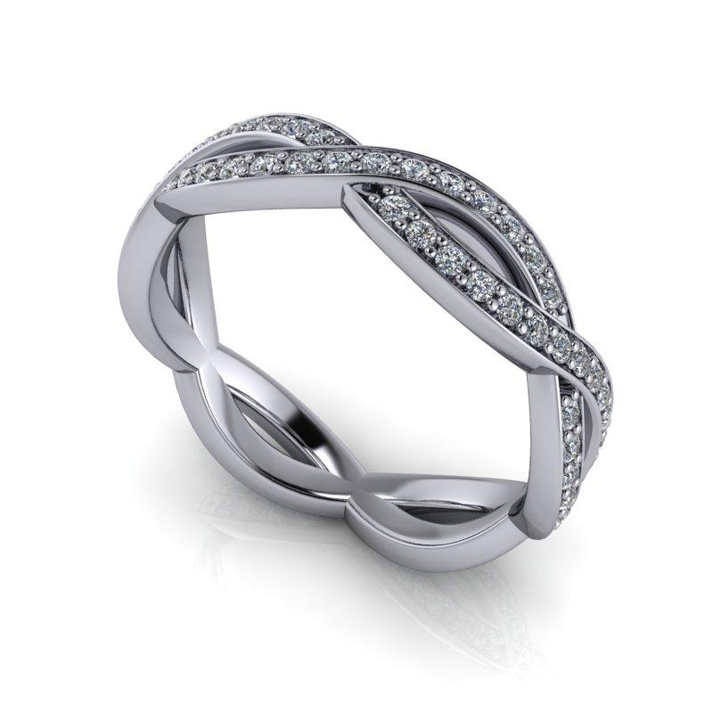 .42 CTW Women's Wedding Band Lab Grown Diamond-Bel Viaggio Designs