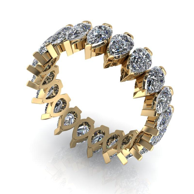 4.20 CTW Pear Shape Forever One Moissanite Eternity Band-Bel Viaggio Designs, LLC