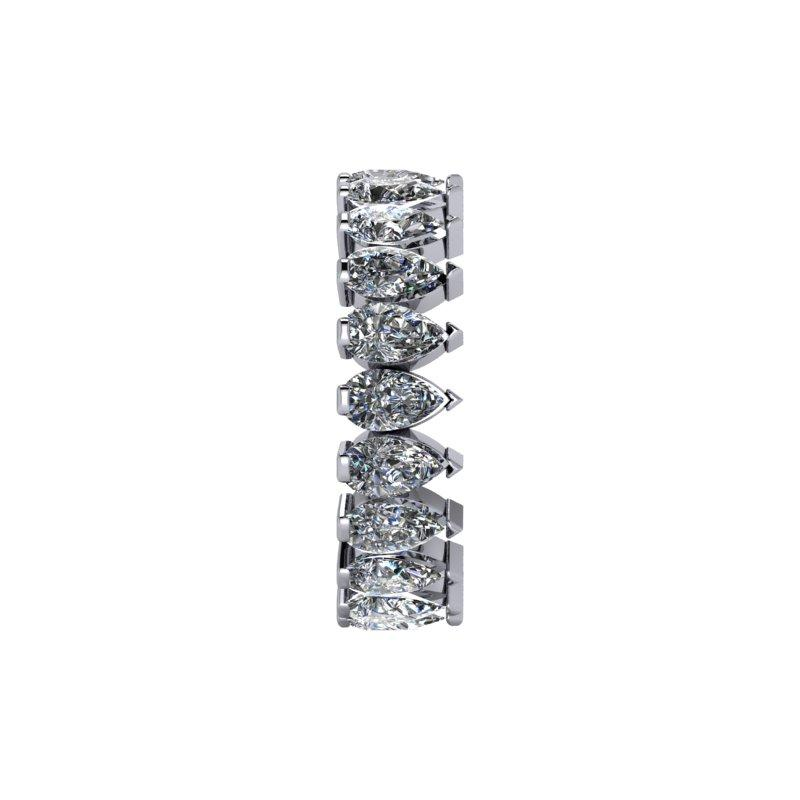 4.20 CTW Pear Shape Forever One Moissanite Eternity Band-Bel Viaggio Designs