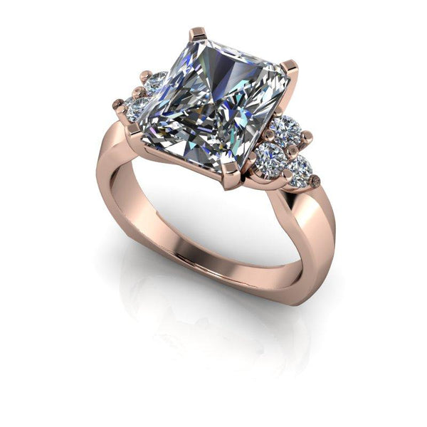4.25 CTW Radiant Cut Forever One Moissanite Engagement Ring-Bel Viaggio Designs