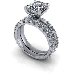 4.52 CTW Bridal Set Oval Forever One Moissanite Engagement Ring-BVD