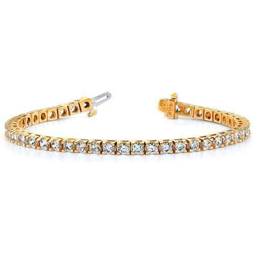 4.65 ctw Diamond Tennis Bracelet 14 kt Gold - Lab Grown Diamond Tennis Bracelet-Bel Viaggio Designs, LLC