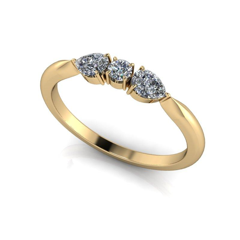 .48 CTW Moissanite Stacking Ring, Insieme Bridal Stackables®-Bel Viaggio Designs