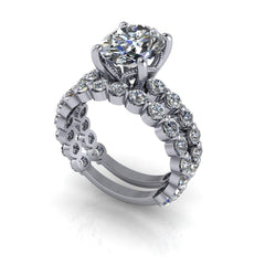 4.95 CTW Bridal Set, Oval Forever One Moissanite Wedding Set-Bel Viaggio Designs, LLC