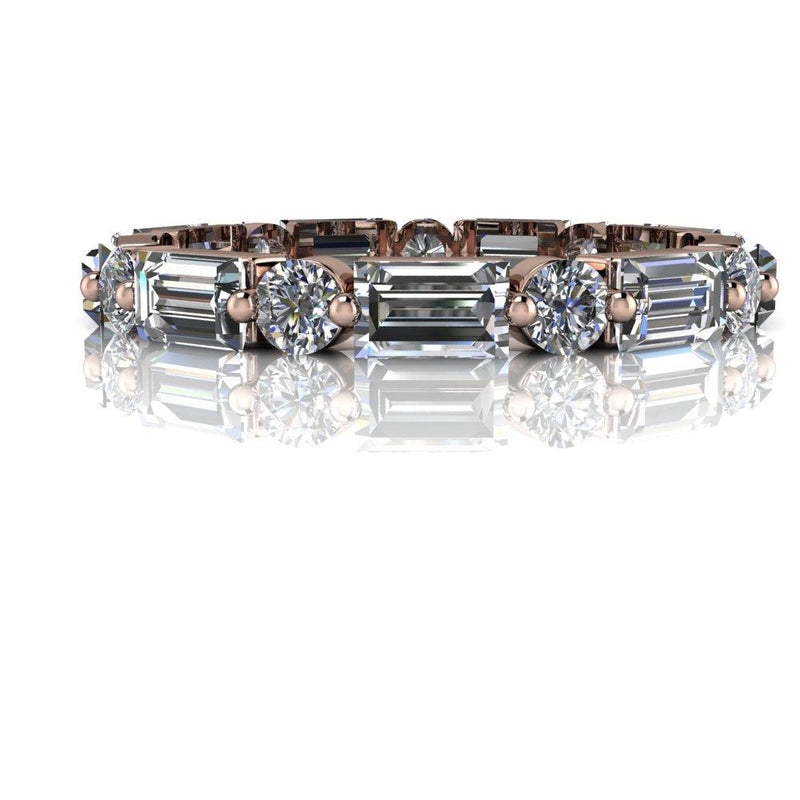 2.08 CTW Lab Grown Diamond Wedding Band, Stacking Ring-Bel Viaggio Designs