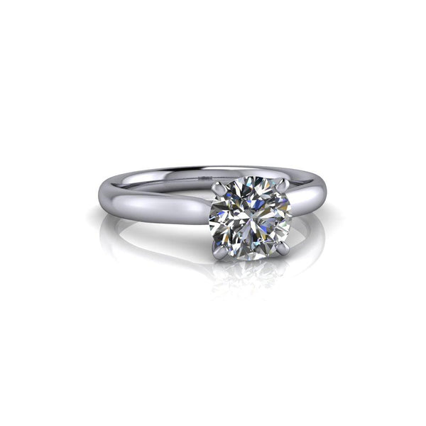 1.00 CTW Moissanite Engagement Ring, Solitaire Ring-Bel Viaggio Designs
